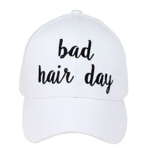 C.C. Bad Hair Day Softball Style Hat NWT